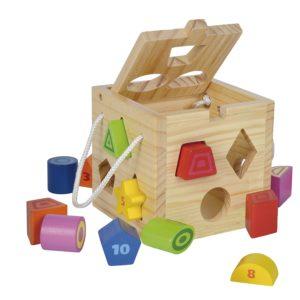 Steckwürfel Steckspiel Eichhorn spielzeug für 1 jährige